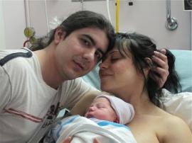 Dad and mom at birth