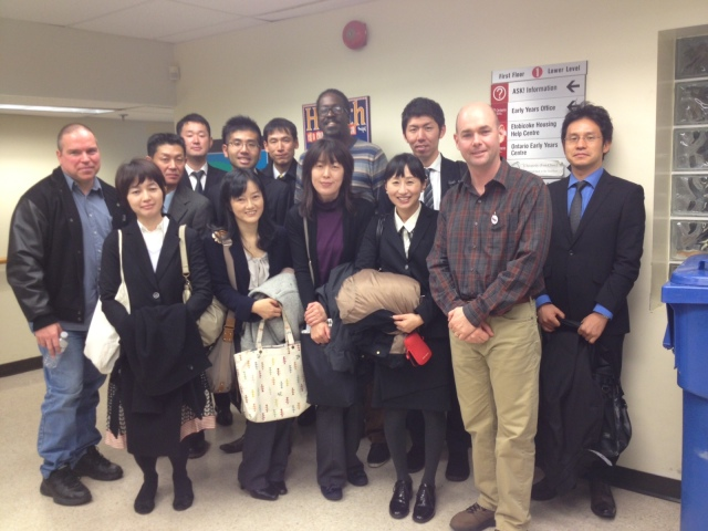 Randy, Zakyia, and Brian from DCO meet with the Ibaragi Study Group from Japan.